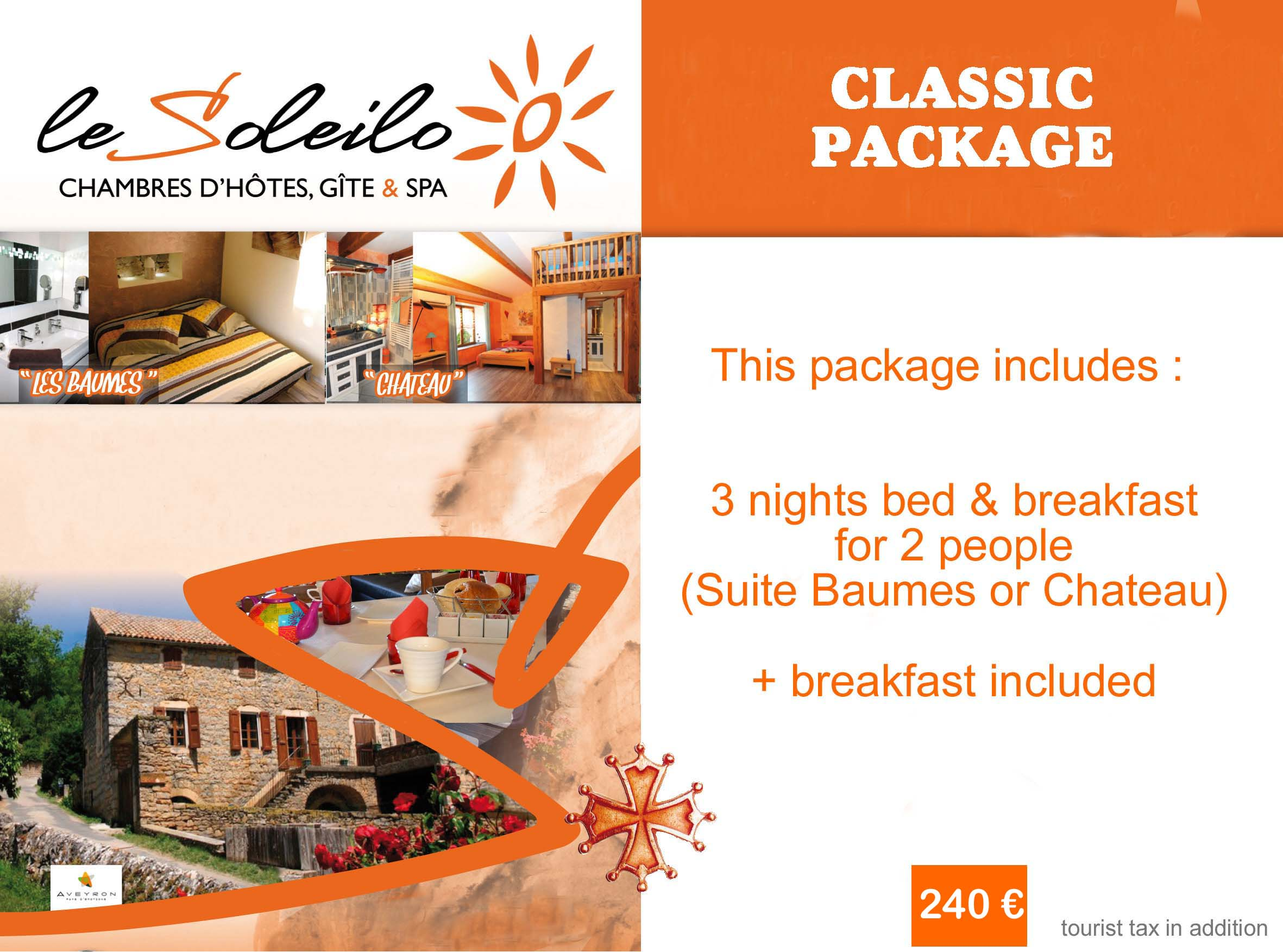 classic Package : bed and breakfast in Gorges du Tarn