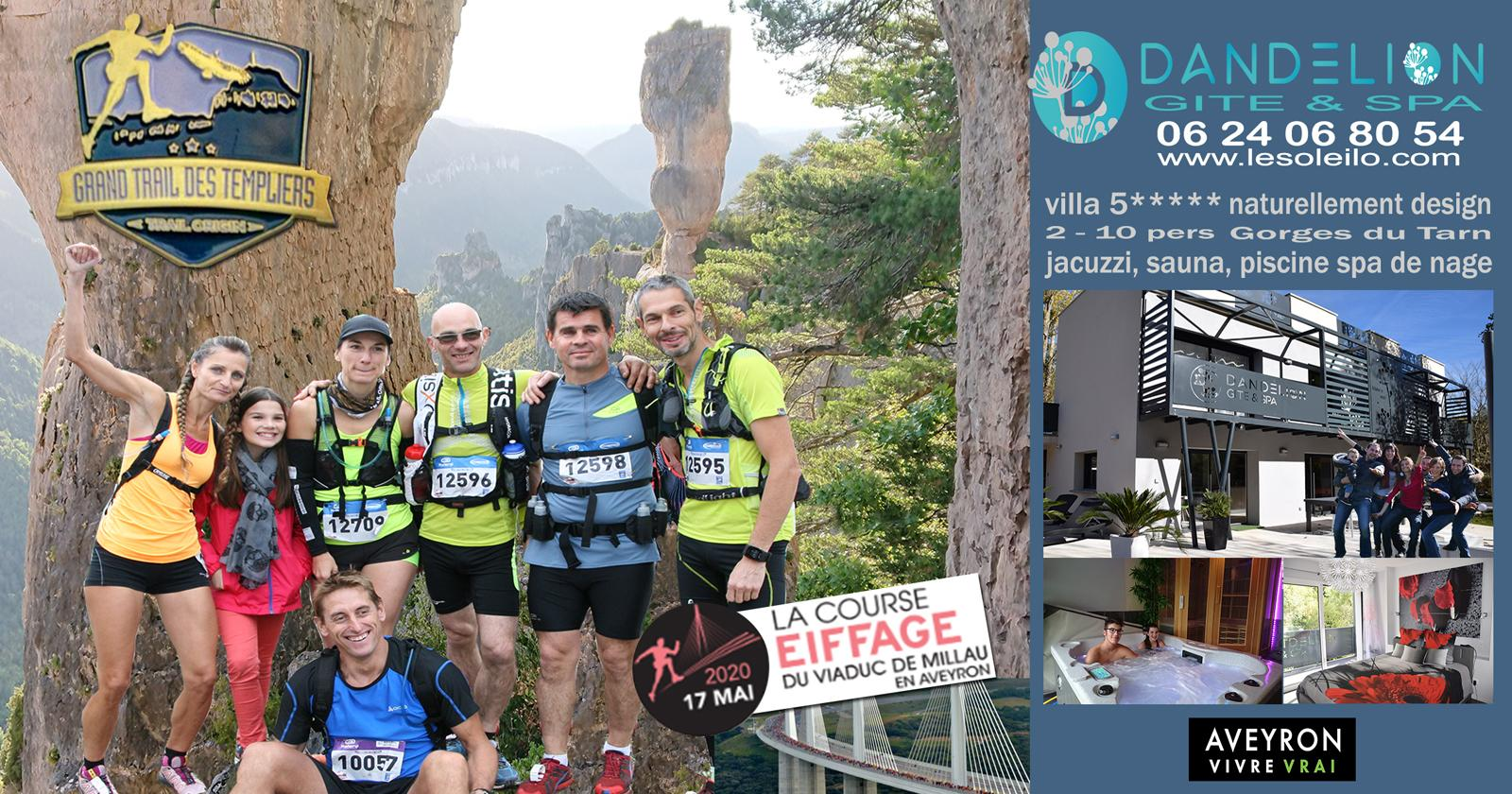 Race Viaduct, Larzac trip trail and Templars for a sports and wellness weekend in lodging with Jacuzzi