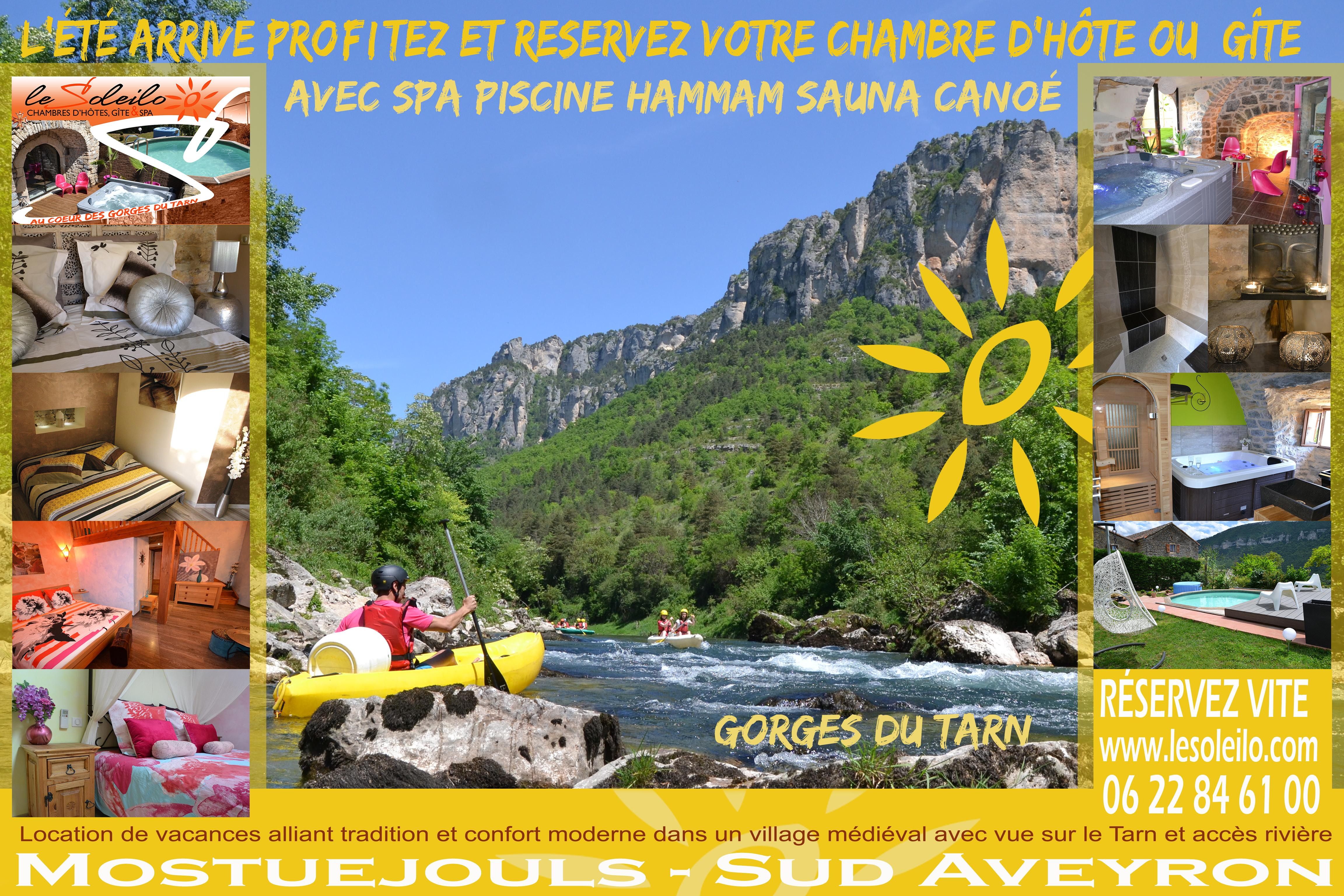 Great Holiday Accommodation Aveyron Lozère In Bed And Breakfast Cottage And Canoe  Tarn Gorges Unusual Charming Night