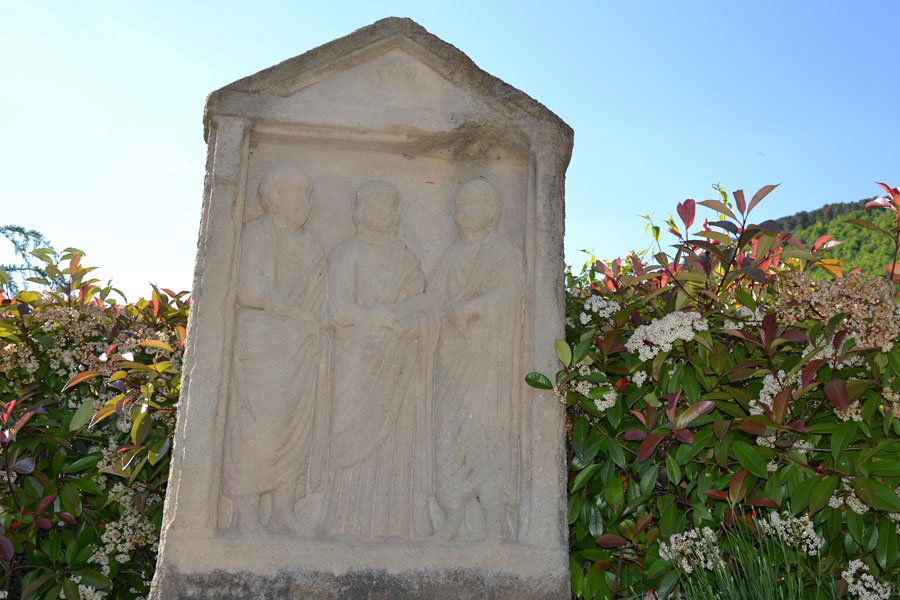 Gallo romane monument in medieval village of Mostuéjouls near the Soleilo Bed and breakfast South of France