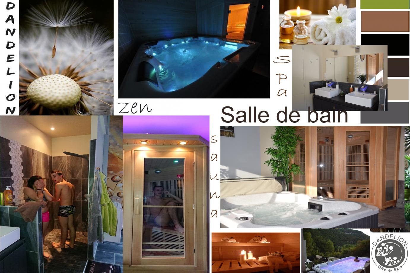 salle de bain spa design avec jacuzzi sauna ecolodge chambre avec jacuzzi aveyron le soleilo. Black Bedroom Furniture Sets. Home Design Ideas